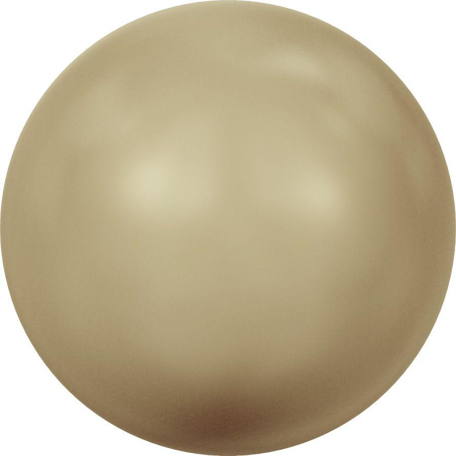 Ronde nacrée 5810 8mm Crystal Vintage Gold Pearl x5 Swarovski