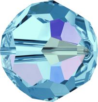 Rondes 5000 Aquamarine AB 8mm x6 Cristal Swarovski