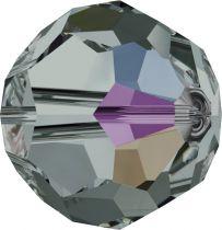Rondes 5000 Black Diamond AB 4mm x20 Cristal Swarovski
