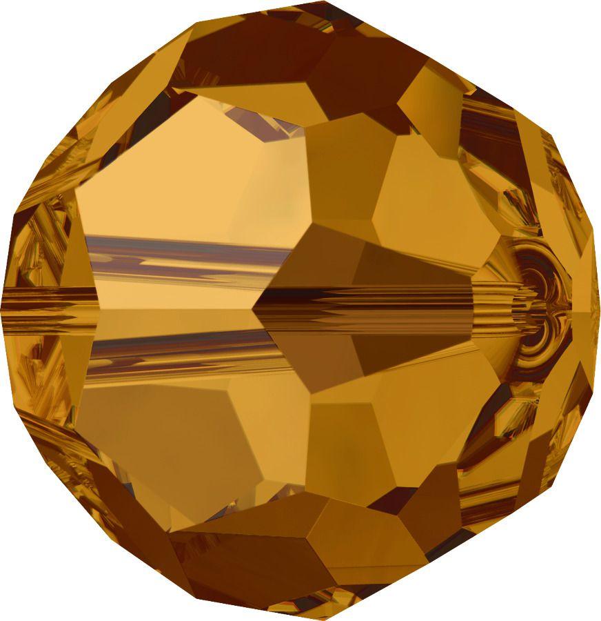 Rondes 5000 Crystal Copper 6mm x6 Cristal Swarovski