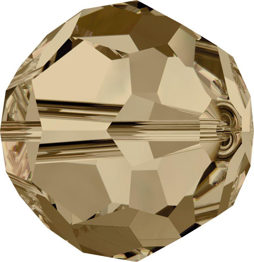 Rondes 5000 Crystal Golden Shadow 8mm x1 Cristal Swarovski