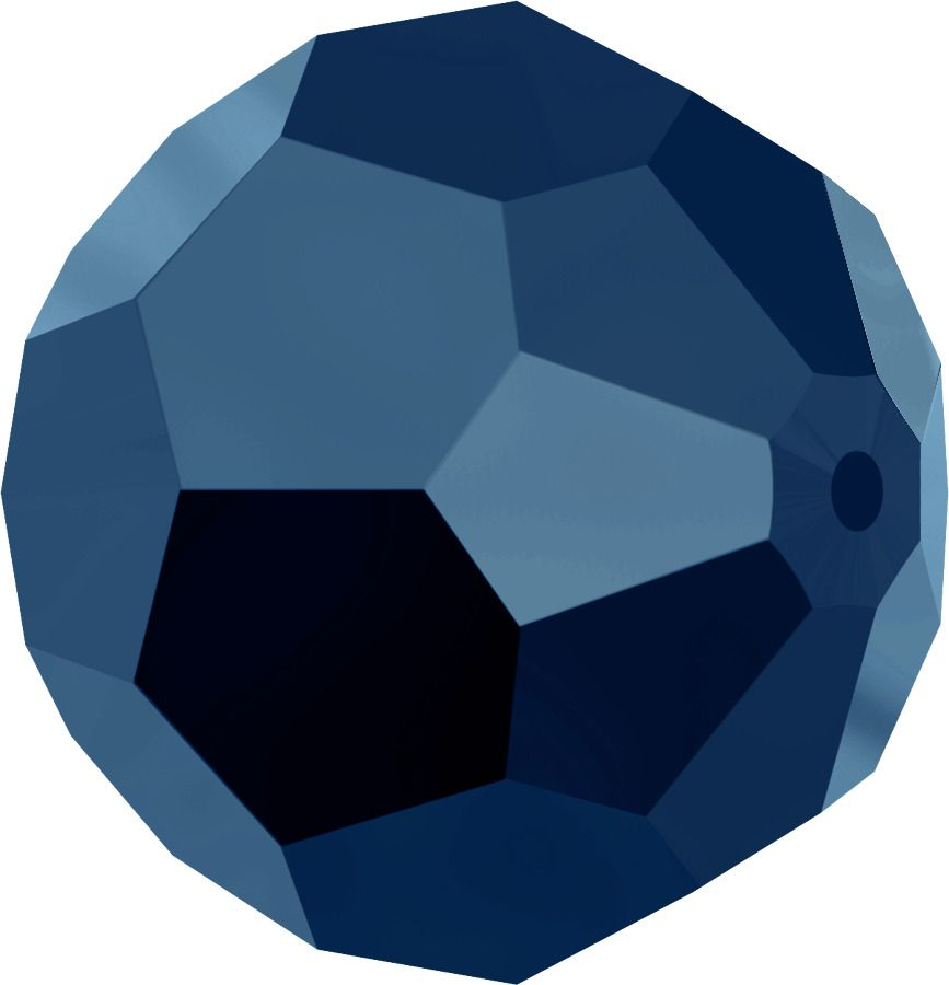 Rondes 5000 Crystal Métallic Blue 2X 6mm x6 Cristal Swarovski
