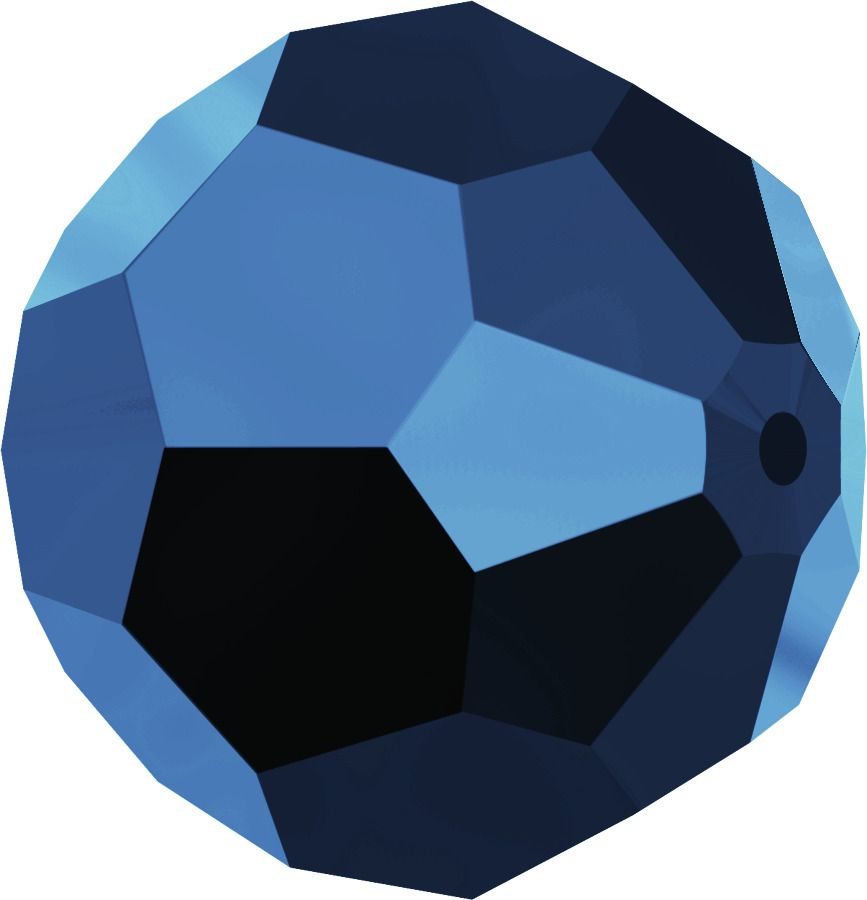 Rondes 5000 Crystal Métallic Blue FC 6mm x6 Cristal Swarovski