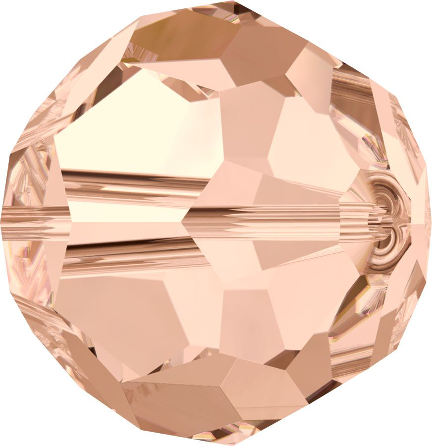 Rondes 5000 Light Peach 6mm x6 Cristal Swarovski