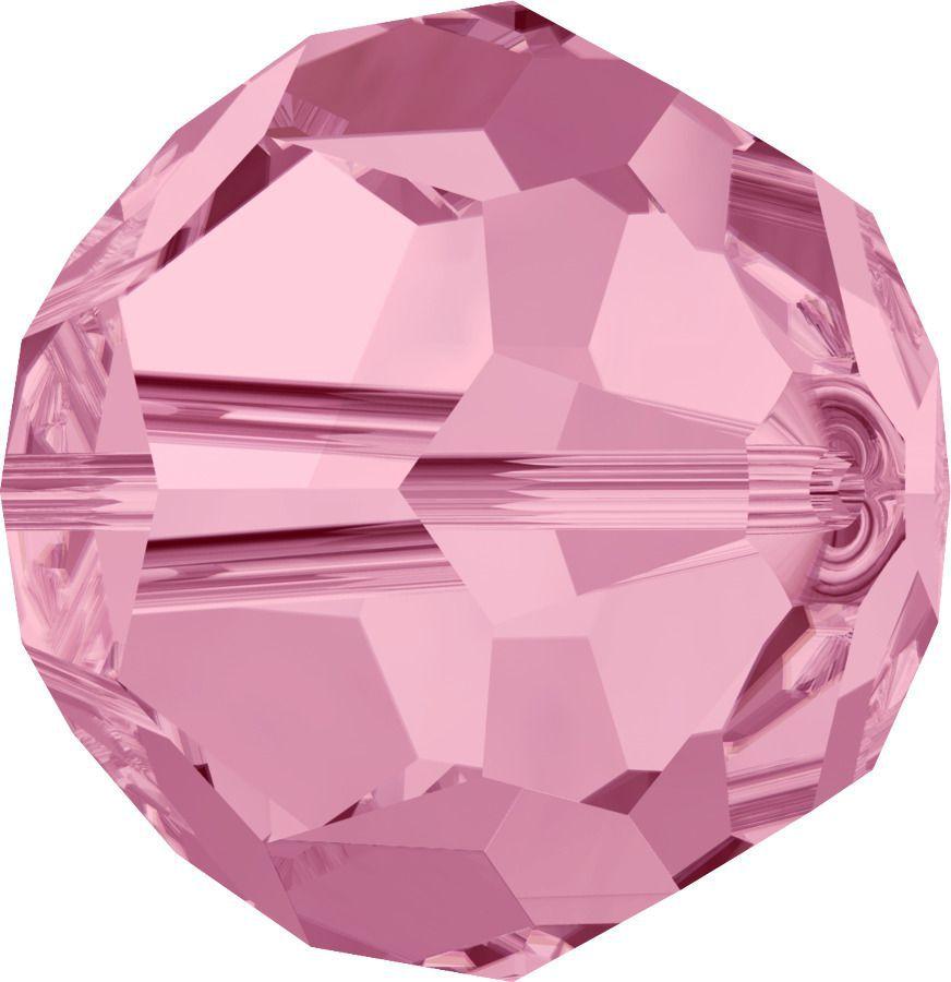 Rondes 5000 Light Rose 8mm x1 Cristal Swarovski