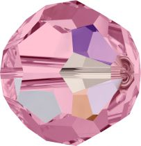 Rondes 5000 Light Rose AB 10mm x1 Cristal Swarovski