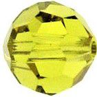 Rondes 5000 Lime 6mm x6 Cristal Swarovski