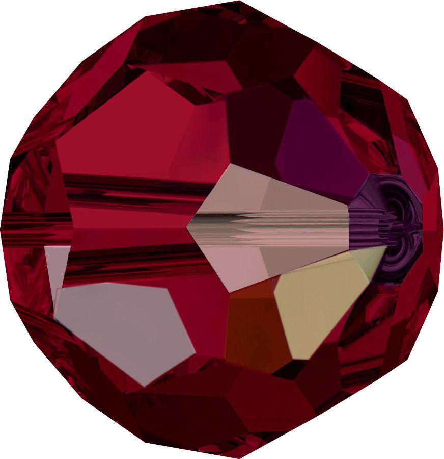 Rondes 5000 Siam AB 6mm x6 Cristal Swarovski