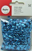 Sequins paillettes bombés 6mm bleu 4000 pièces