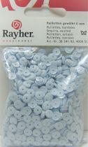 Sequins paillettes bombés rayher 6mm blanc 4000 pièces