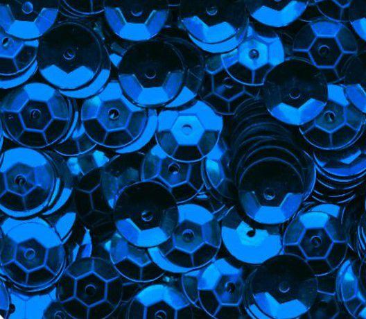 Sequins paillettes bombés rayher 6mm bleu foncé 4000 pièces