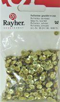 Sequins paillettes bombés rayher 6mm doré 4000 pièces
