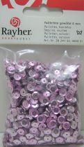 Sequins paillettes bombés rayher 6mm rose foncé 4000 pièces