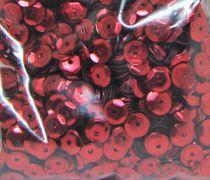 Sequins paillettes bombés rayher 6mm rouge 4000 pièces