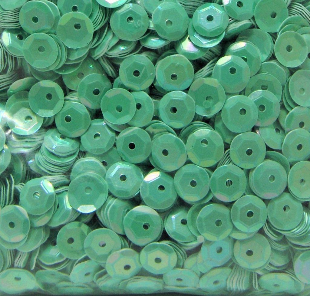 Sequins paillettes bombés rayher 6mm vert irisé 4000 pièces