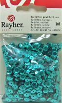 Sequins paillettes bombés rayher 6mm vert lagon 4000 pièces