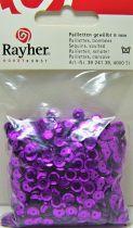 Sequins paillettes bombés rayher 6mm violet 4000 pièces