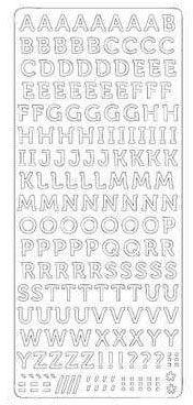 Stickers de contours alphabet argenté