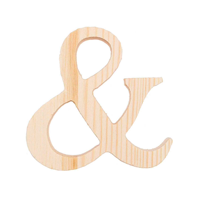 Symbole & - 8 Cm - Bois