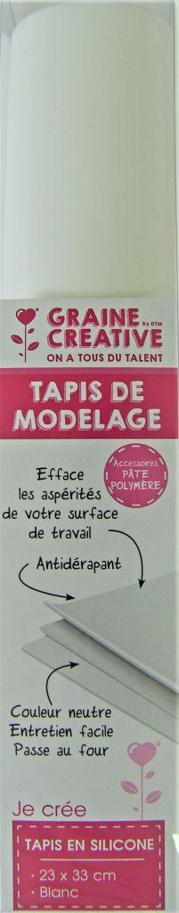 Tapis de modelage pour pâte polymère 23x33cm en silicone