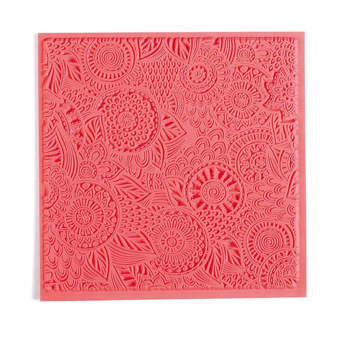 """Tapis de texture \""""floral\"""" pour pâte polymère"""