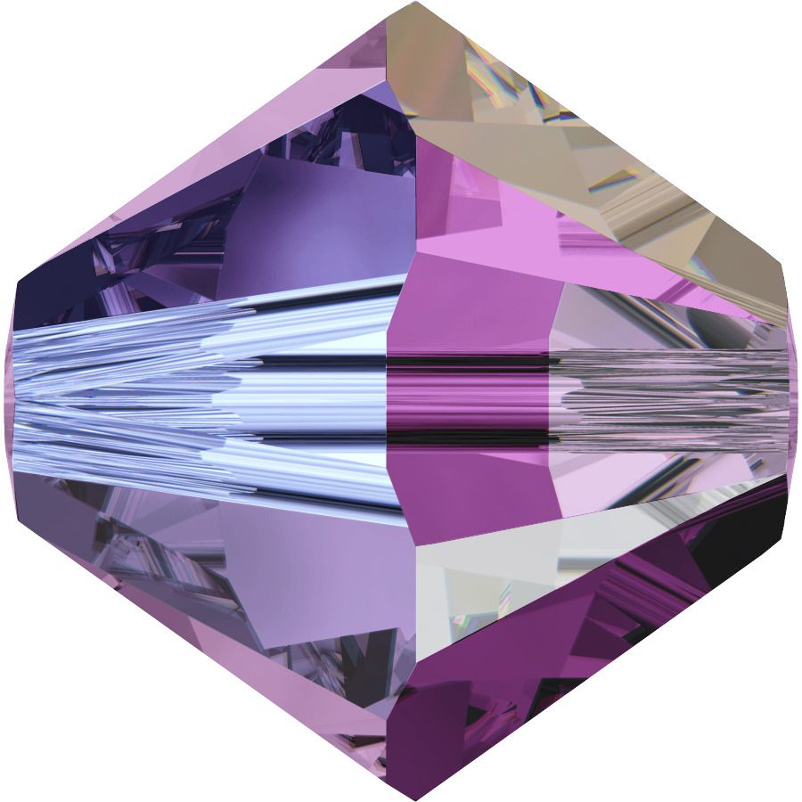 Toupie 5328 Amethyst AB2X 4mm x50 Cristal Swarovski