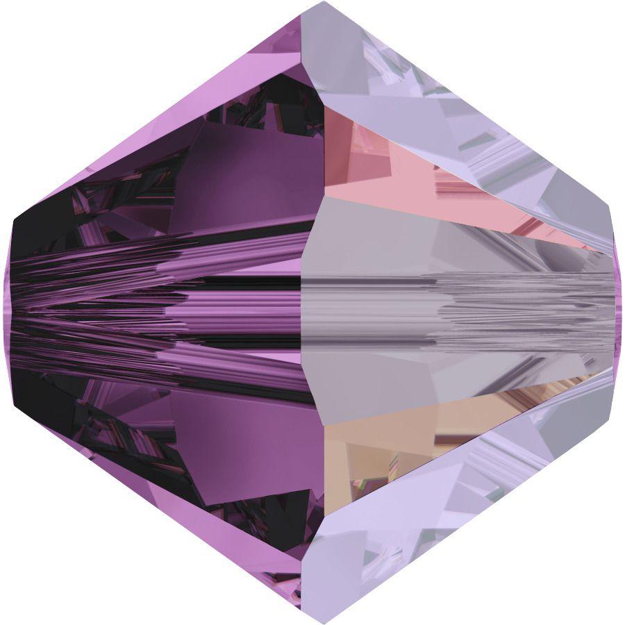 Toupie 5328 Amethyst Satin 4mm x50 Cristal Swarovski