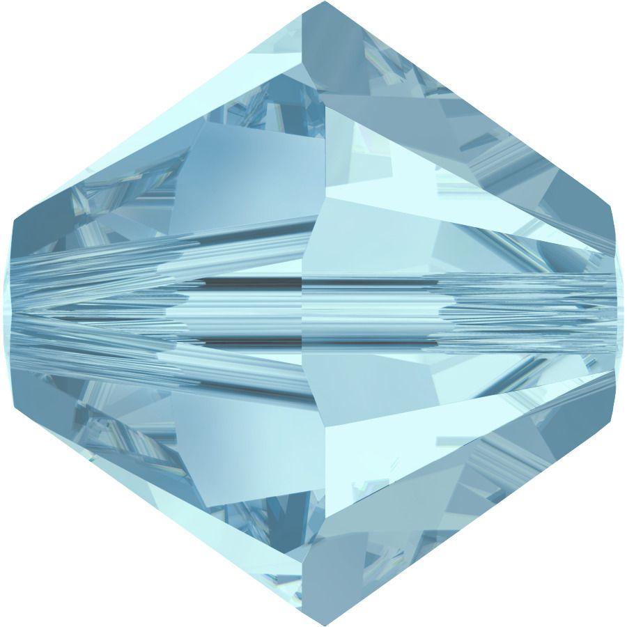 Toupie 5328 Aquamarine 3mm x 50 Cristal Swarovki
