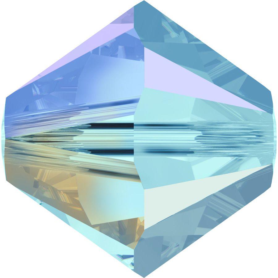 Toupie 5328 Aquamarine AB2X 4mm x50 Cristal Swarovki