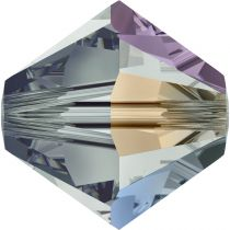 Toupie 5328 Black Diamond AB 6mm x1 Cristal Swarovki