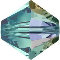 Toupie 5328 Blue Zircon AB 4mm x50 Cristal Swarovski