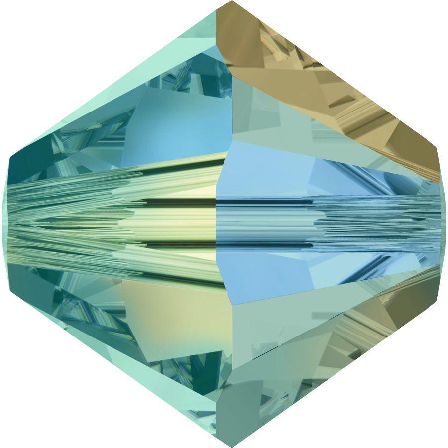 Toupie 5328 Blue Zircon AB2X 4mm x50 Cristal Swarovski