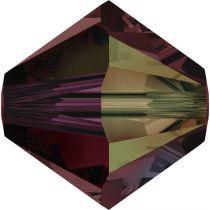 Toupie 5328 Burgundy AB 4mm x50 Cristal Swarovski