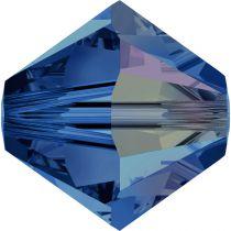 Toupie 5328 Capri Blue AB 4mm x 50 Cristal Swarovki