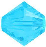 Toupie 5328 Caribbean Blue Opal 4mm x 50 Cristal Swarovki