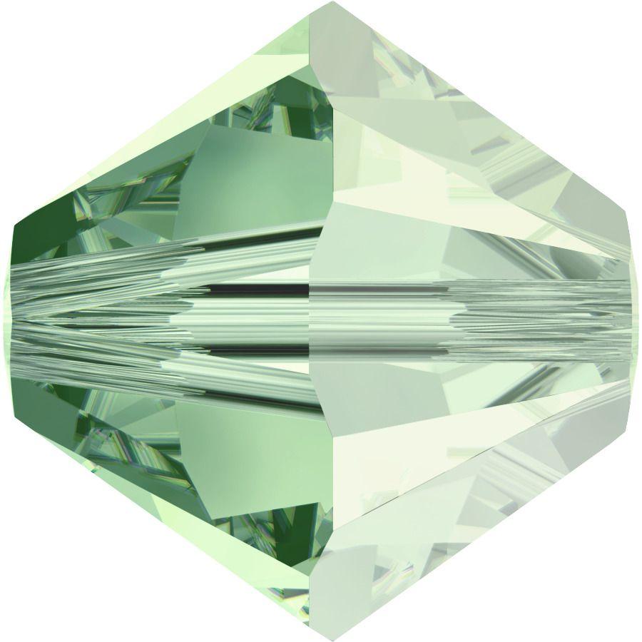 Toupie 5328 Chrysolite Satin 4mm x 50 Cristal Swarovki