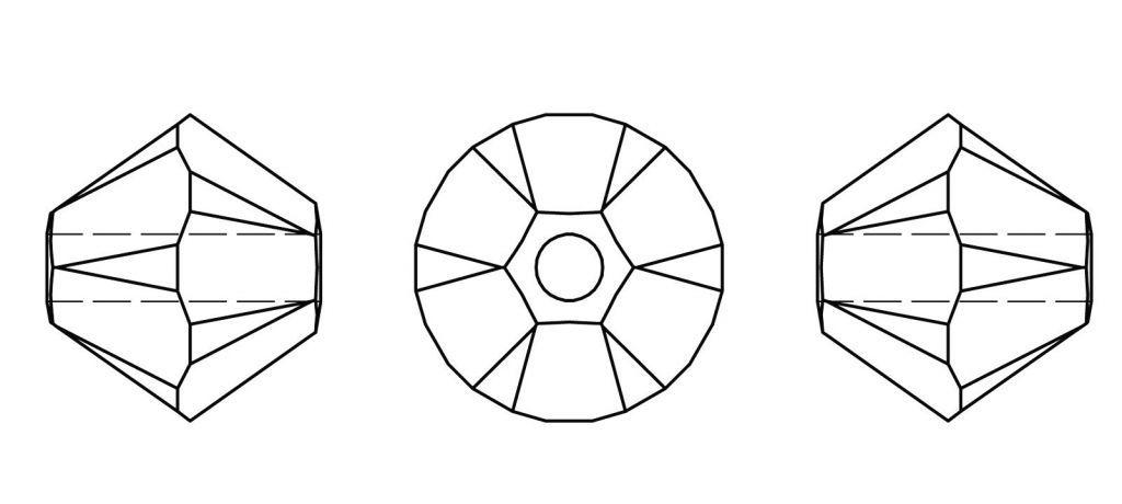 Toupie 5328 Cristal Swarovski Amethyst  8mm