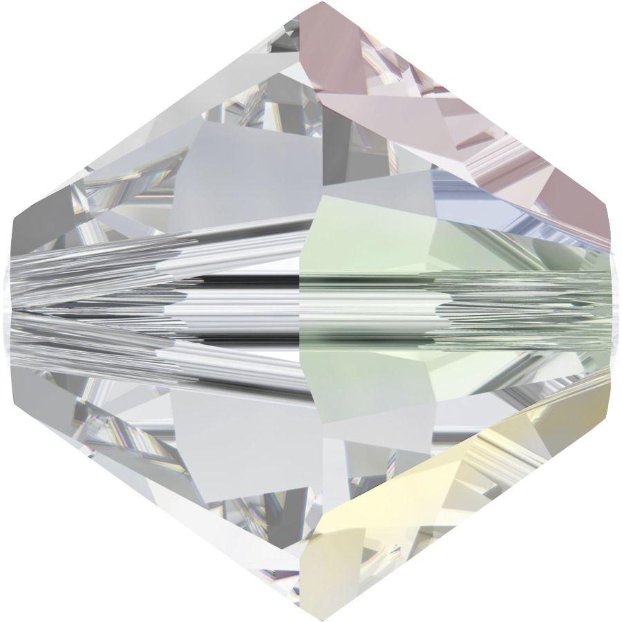 Toupie 5328 Crystal AB 4mm x 50 Cristal Swarovki