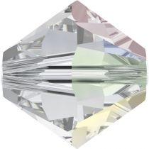 Toupie 5328 Crystal AB 6mm x1 Cristal Swarovki