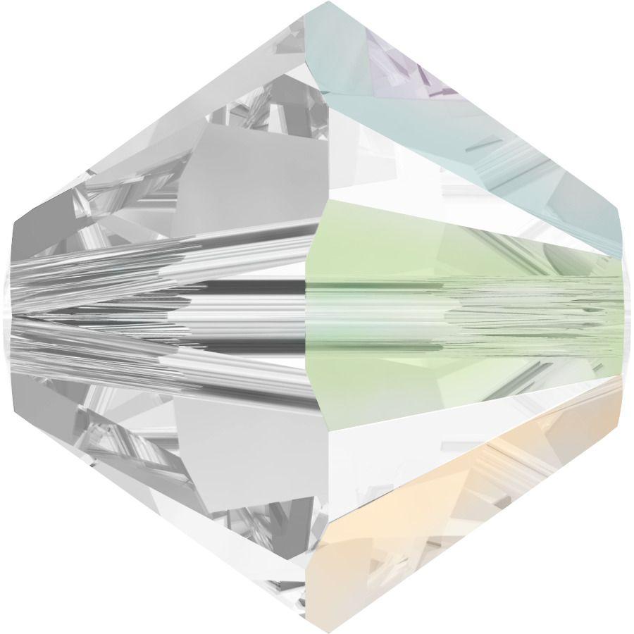 Toupie 5328 Crystal AB Satin 4mm x50 Cristal Swarovki