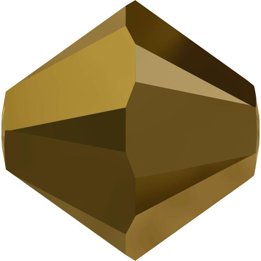 Toupie 5328 Crystal Dorado 2X 6mm x1 Cristal Swarovki