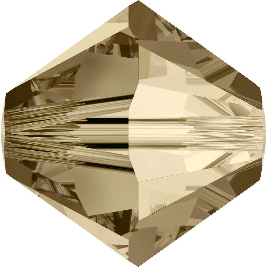 Toupie 5328 Crystal Golden Shadow 6mm x1 Cristal Swarovki
