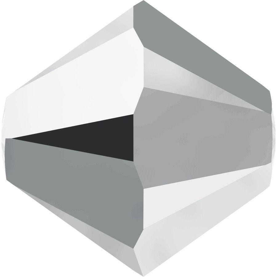Toupie 5328 Crystal Light Chrome 2X 4mm x50 Cristal Swarovki