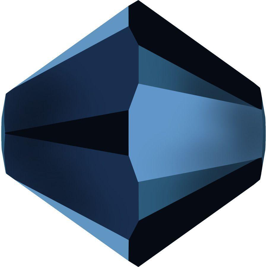 Toupie 5328 Crystal Métallic Blue 2x 5mm x20 Cristal Swarovski