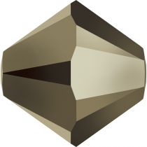 Toupie 5328 Crystal Métallic Light Gold 2x 6mm x1 Cristal Swarovki