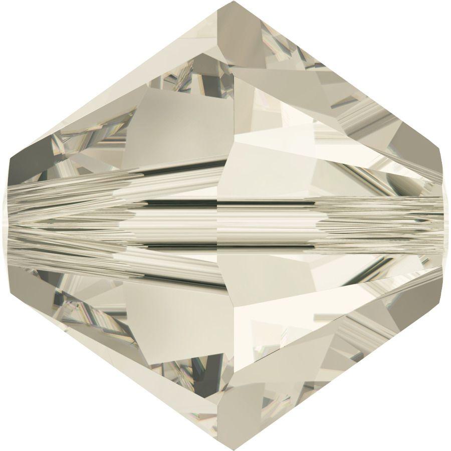 Toupie 5328 Crystal Silver Shade 4mm x50 Cristal Swarovki