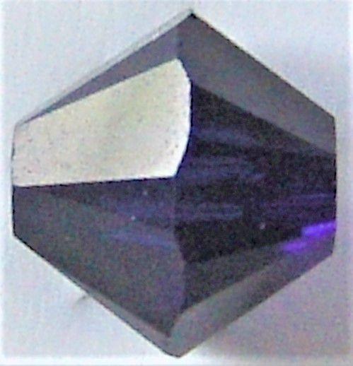 Toupie 5328 Dark Indigo 3mm x50 Cristal Swarovki