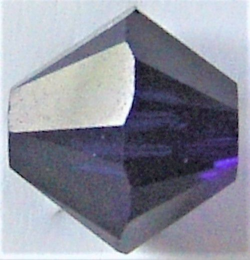 Toupie 5328 Dark Indigo 4mm x 50 Cristal Swarovki