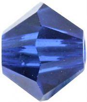 Toupie 5328 Dark Sapphire 4mm x 50 Cristal Swarovki