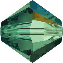 Toupie 5328 Emerald AB 4mm x50 Cristal Swarovki